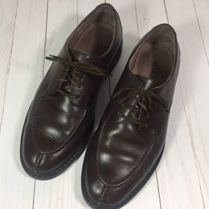 Lands'  End Brown Oxford Dress Shoes 9.5